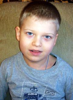 Лёша Коротков, 7 лет, детский церебральный паралич, требуется реабилитационное устройство СВОШ. 109577 руб.