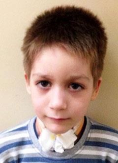 Костя К., 7 лет, папилломатоз дыхательных путей, симптоматическая эпилепсия, требуется содержание, уход и лечение в Свято-Софийском детском доме. 1440000 руб.