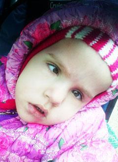 Настя Гусева, 2 года, детский церебральный паралич, требуется курсовое лечение. 199200 руб.