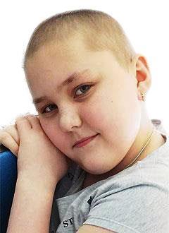 Арина Ильина, 11 лет, острый лимфобластный лейкоз, требуется лечение и доставка трансплантата. 335460 руб.