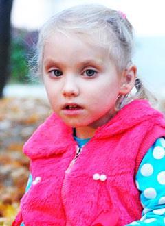 Рита Григоренко, 6 лет, двусторонняя тугоухость 3-й степени, требуются слуховые аппараты. 260509 руб.