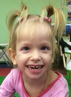 Катя Зайцева, 5 лет, детский церебральный паралич, требуется лечение. 65707 руб.