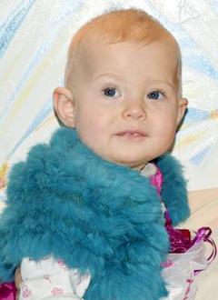 Варя Абаляева, 1 год, контрактура указательного пальца правой кисти, требуется операция. 365645 руб.