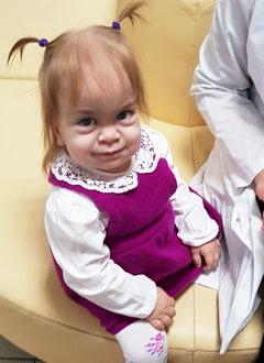 Карина Кудряшова, 2 года, редкое генетическое заболевание – мукополисахаридоз, синдром Гурлер, требуется лекарство. 1231822 руб.