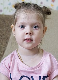 Арина Пушкина, 3 года, цитруллинемия – редкое генетическое заболевание, спасет лекарство. 322892 руб.