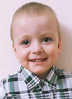 Никита Рябчиков, 3 года, двусторонняя тугоухость 4-й степени, требуются слуховые аппараты. 135300 руб.