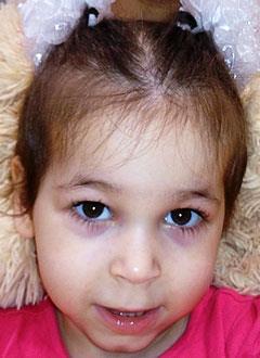 Полина Ермолова, 3 года, детский церебральный паралич, требуется специальный тренажер. 114251 руб.