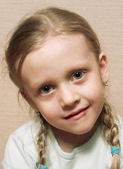 Ангелина Кольцова, 6 лет, двусторонняя тугоухость 4-й степени, требуются слуховые аппараты. 139640 руб.