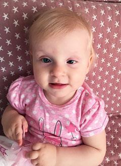 Арина Щербакова, 1 год, врожденная злокачественная опухоль сетчатки обоих глаз – ретинобластома, спасет лечение в Офтальмологической клинике Жюля Гона (Лозанна, Швейцария). 2034176 руб.